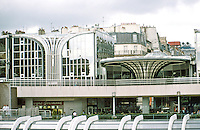 Paris: Forum des Halles. Detail: Motifs. Pencreac'h and Vasconi, 1980, a French firm that built much of the new town of Cergy-Pontoise. Photo '87.