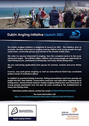 Dublin Angling Initiative 2021 launch poster