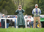 Peggy Steinman, owner of Call You In Ten, stands alongside trainer and race director Doug Fout during the Temple Gwathmey.