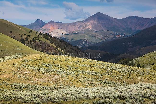 Lima Peaks, and sage brush foothills