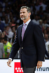 Spain´s king Felipe VI during FIBA Basketball World Cup Spain 2014 final award ceremony after United States victory against Serbia at `Palacio de los deportes´ stadium in Madrid, Spain. September 14, 2014. (ALTERPHOTOSVictor Blanco)