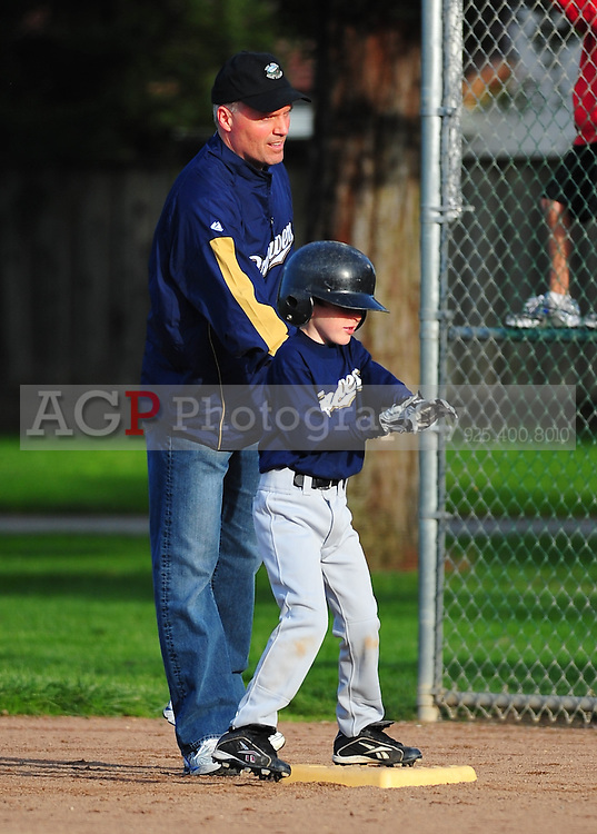 Pleasanton Nattional Little League A Brewers play at the Sports Park in Pleasanton Monday March 15, 2010. (Photo by Alan Greth)