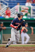 Lowell Spinners shortstop Grant Williams (11) at bat during a game against the Batavia Muckdogs on July 14, 2018 at Dwyer Stadium in Batavia, New York.  Lowell defeated Batavia 8-4.  (Mike Janes/Four Seam Images)