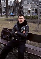 Marc Beland, April 1988 exclusive photo shoot in  Saint-Louis Square.