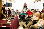 Waterbury, CT- 01 December 2016-120116CM03- The Bennett family of Cheshire perform a Christmas concert at the Middlebury Convalescent Home on Friday.  The Bennett family entertained the residents and staff at the home by playing classic tunes using various instruments.   Christopher Massa Republican-American