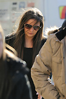 COPY BY TOM BEDFORD<br /> Pictured: Shanice Clark arrives at Newport Coroner's Court. Monday 26 February 2018<br /> Re: Inquest to be held at Newport Coroner's Court, into the death of five year old Ellie-May Clark who died of an asthma attack, after being refused a GP appointment in Newport, south Wales. <br /> Dr Joanne Rowe refused to see her, on the grounds that her mother was a few minutes late for a booked appointment.<br /> A few hours later, Ellie-May Clark suffered a seizure and died, despite the efforts of an ambulance crew.
