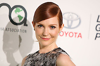 BURBANK, CA, USA - OCTOBER 18: Darby Stanchfield arrives at the 2014 Environmental Media Awards held at Warner Bros. Studios on October 18, 2014 in Burbank, California, United States. (Photo by Xavier Collin/Celebrity Monitor)