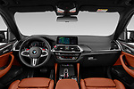 Stock photo of straight dashboard view of 2020 BMW X3 M-Competition 5 Door SUV Dashboard