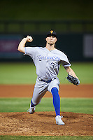 Surprise Saguaros pitcher Evan Beal (32), of the Kansas City Royals organization, during a game against the Salt River Rafters on October 21, 2016 at Salt River Fields at Talking Stick in Scottsdale, Arizona.  Salt River defeated Surprise 3-2.  (Mike Janes/Four Seam Images)