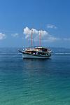 ..Brac Island. Bol. Beach of Zlatni Rat (gold Cape).Cruise in Croatia. Island of Dalmatia.