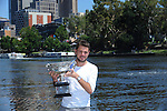 Stanislaus Wawrinka, men's champion,  Trophy Shots