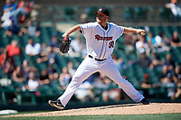 Rochester Red Wings relief pitcher Kevin Chapman (50) during a game against the Scranton/Wilkes-Barre RailRiders on June 7, 2017 at Frontier Field in Rochester, New York.  Scranton defeated Rochester 5-1.  (Mike Janes/Four Seam Images)