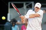 John Isner, USA, during Madrid Open Tennis 2015 match.May, 8, 2015.(ALTERPHOTOS/Acero)