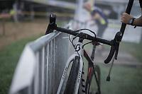 post-race cleaning<br /> <br /> Brico-cross Geraardsbergen 2016