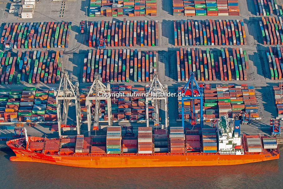 Containerterminal Hamburg: EUROPA, DEUTSCHLAND, HAMBURG, (EUROPE, GERMANY), 22.01.2006Containerhafen Hamburg