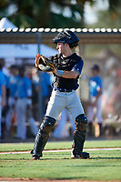 Will Cialone during the WWBA World Championship at the Roger Dean Complex on October 19, 2018 in Jupiter, Florida.  Will Cialone is a catcher from Naples, Florida who attends Canterbury High School.  (Mike Janes/Four Seam Images)