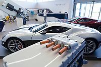 CROATIA, Sveta Nedelja near Zagreb, Rimac Automobili HQ, Electro Motor of e-car Concept One P4, copper cable /  KROATIEN, Sveta Nedelja bei Zagreb , Rimac Automobili HQ, Elektromotor des Concept One P4, Kupferkabel