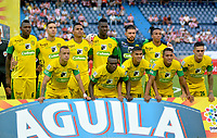 BARRANQUILLA - COLOMBIA - 31 - 03 - 2018: Los jugadores de Leones F. C., posan para una foto, durante partido de la fecha 12 entre Atletico Junior y Leones F. C., por la Liga Aguila I - 2018, jugado en el estadio Metropolitano Roberto Melendez de la ciudad de Barranquilla. /  The players of Jaguares F.C. pose for a photo, during a match of the 12th date between Atletico Junior and Leones F. C., for the Liga Aguila I - 2018 at the Metropolitano Roberto Melendez Stadium in Barranquilla city, Photo: VizzorImage  / Alfonso Cervantes / Cont.