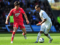 sport...swansea v southampton...liberty stadium...saturday 20th april 2013....<br /> <br /> <br /> Swansea's Luke Moore on the ball