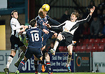 Ross County v St Johnstone...05.12.15  SPFL  Dingwall<br /> Murray Davidson and Andrew Davies<br /> Picture by Graeme Hart.<br /> Copyright Perthshire Picture Agency<br /> Tel: 01738 623350  Mobile: 07990 594431