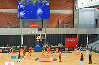 overview picture basketball game between the national teams of Puerto Rico and Serbia on Sunday 30 th of May 2021 in Kortrijk , Belgium . PHOTO SPORTPIX.BE | SPP | STIJN AUDOOREN