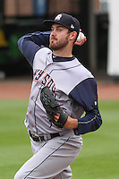 Colorado Springs Sky Sox pitcher Taylor Jungmann (26) warms up prior to a Pacific Coast League game against the Iowa Cubs on May 11th, 2015 at Principal Park in Des Moines, Iowa.  Colorado Springs defeated Iowa 13-7.  (Brad Krause/Four Seam Images)