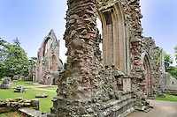 SC - Prov. LOTHIAN & SCOTTISH BORDERS<br /> Dryburgh Abbey dating from 1150. Here rests Sir Walter Scott with his family<br /> <br /> Full size: 69,3 MB