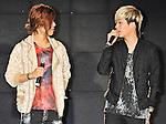 Kang Nam and Cream(MIB), Jun 24, 2013 : MIB, Tokyo, Japan, June 24, 2013 : Kang Nam(L) and Cream of MIB speak during their showcase in Tokyo, Japan, on June 24, 2013.