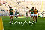 Graham O'Sullivan and Kieran Fitzgibbon, Kerry, Players after the Senior football All Ireland Semi-Final between Kerry and Tyrone at Croke park on Saturday.