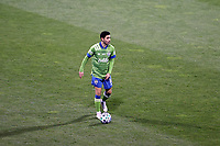 COLUMBUS, OH - DECEMBER 12: Alex Roldan #16 of the Seattle Sounders FC plays the ball during a game between Seattle Sounders FC and Columbus Crew at MAPFRE Stadium on December 12, 2020 in Columbus, Ohio.