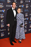 Sir Ben Ainslie and wife, Georgie Thompson<br /> arriving for the BT Sport Industry Awards 2018 at the Battersea Evolution, London<br /> <br /> ©Ash Knotek  D3399  26/04/2018
