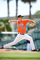 Baltimore Orioles pitcher Jake Bray (86) during an Instructional League game against the Tampa Bay Rays on September 19, 2016 at Ed Smith Stadium in Sarasota, Florida.  (Mike Janes/Four Seam Images)