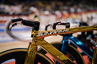 Olympic Omnium champion Elia Viviani's (ITA/Deceuninck-QuickStep) bling track bike<br /> <br /> Lotto 6daagse Vlaanderen-Gent 2018 / Gent6<br /> day 5