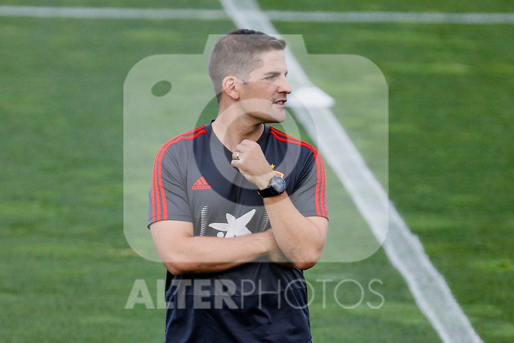 Robert Moreno during the Trainee Session at Ciudad del Futbol in Las Rozas, Spain. September 02, 2019. (ALTERPHOTOS/A. Perez Meca)