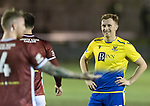Kelty Hearts v St Johnstone…07.10.20   New Central Park  Betfred Cup<br />A wry smile from Liam Craig after his shot hits the bar which led to the corner that Jason Kerr scored from<br />Picture by Graeme Hart.<br />Copyright Perthshire Picture Agency<br />Tel: 01738 623350  Mobile: 07990 594431