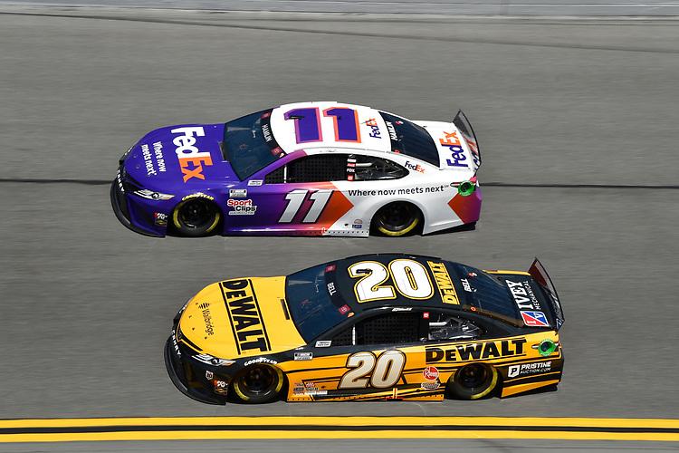 #20: Christopher Bell, Joe Gibbs Racing, Toyota Camry DEWALT #11: Denny Hamlin, Joe Gibbs Racing, Toyota Camry