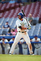 Hartford Yard Goats right fielder Dillon Thomas (25) at bat during the first game of a doubleheader against the Trenton Thunder on June 1, 2016 at Sen. Thomas J. Dodd Memorial Stadium in Norwich, Connecticut.  Trenton defeated Hartford 4-2.  (Mike Janes/Four Seam Images)