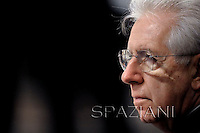 Italian Prime Minister Mario Monti attends the Epiphany mass celebrated by Pope Benedict XVI in St. Peter's Basilica, in Vatican, on January 6, 2013.