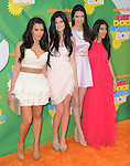 Kim Kardashian, Kylie Jenner, Kendall Jenner and Kourtney Kardashian attends The 24th Annual Kids' Choice Awards held at USC's Galen Center in Los Angeles, California on April 02,2011                                                                               © 2010 DVS / Hollywood Press Agency