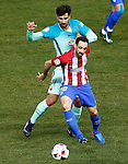 Atletico de Madrid's Juanfran Torres (r) and FC Barcelona's Andre Gomes during Spanish Kings Cup semifinal 1st leg match. February 01,2017. (ALTERPHOTOS/Acero)