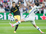 Gabriel Fernandez Arenas, Gabi (l), of Atletico de Madrid battles for the ball with Isco Alarcon of Real Madrid during their 2016-17 UEFA Champions League Semifinals 1st leg match between Real Madrid and Atletico de Madrid at the Estadio Santiago Bernabeu on 02 May 2017 in Madrid, Spain. Photo by Diego Gonzalez Souto / Power Sport Images