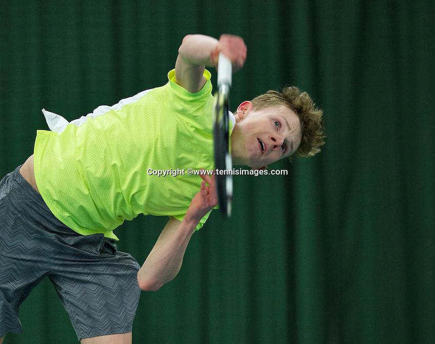 Rotterdam, The Netherlands, March 11, 2016,  TV Victoria, NOJK 12/16 years, Jesper de Jong (NED)<br /> Photo: Tennisimages/Henk Koster