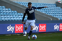 Jed Wallace of Millwall crosses the ball during Millwall vs Nottingham Forest, Sky Bet EFL Championship Football at The Den on 19th December 2020
