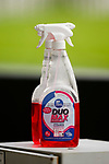 Bottles of disinfectant ready at pitchside. Hull 2 Sunderland 2, League One 20th April 2021.