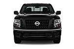 Car photography straight front view of a 2017 Nissan Titan S-Crew 4 Door Pickup Front View