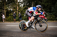 Remi Cavagna (FRA/Deceuninck-Quick Step) on the steep parts of the individual time trial up the infamous Planche des Belles Filles<br /> <br /> Stage 20 (ITT) from Lure to La Planche des Belles Filles (36.2km)<br /> <br /> 107th Tour de France 2020 (2.UWT)<br /> (the 'postponed edition' held in september)<br /> <br /> ©kramon