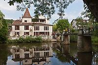 Europe/France/Aquitaine/24/Dordogne/Brantome: Vieille demeure sur les bords de la Dronne