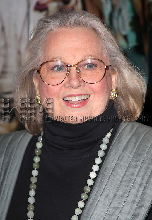 Barbara Cook.attending the Opening Night Performance of 'The Gershwins' Porgy & Bess' at the Richard Rodgers Theatre in New York City. 1/12/2012