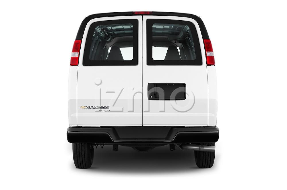 Straight rear view of 2016 Chevrolet Express-Cargo 2500-Work-Van-HD 4 Door Cargo Van Rear View  stock images