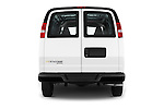 Straight rear view of 2016 Chevrolet Express-Cargo 2500-Work-Van-HD 4 Door Cargo Van Rear View  stock images